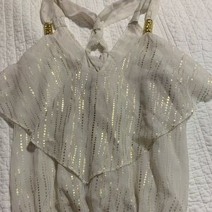 Xoxo Gold and Off white shirt